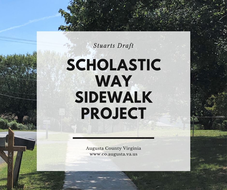 Scholastic Way Sidewalk Project helps connect Stuarts Draft Schools and Neighborhoods