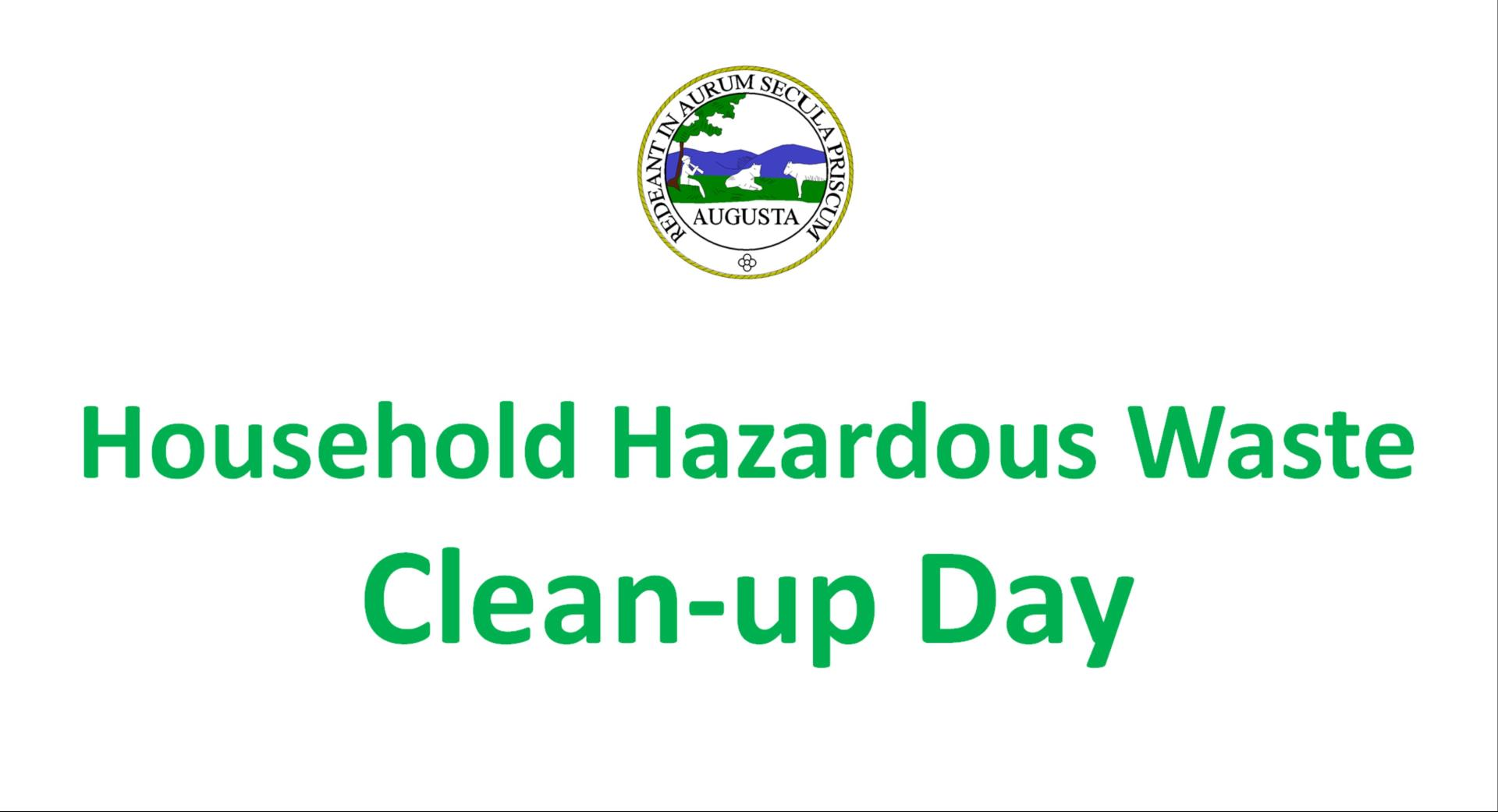 What household hazardous waste items are accepted this Saturday?