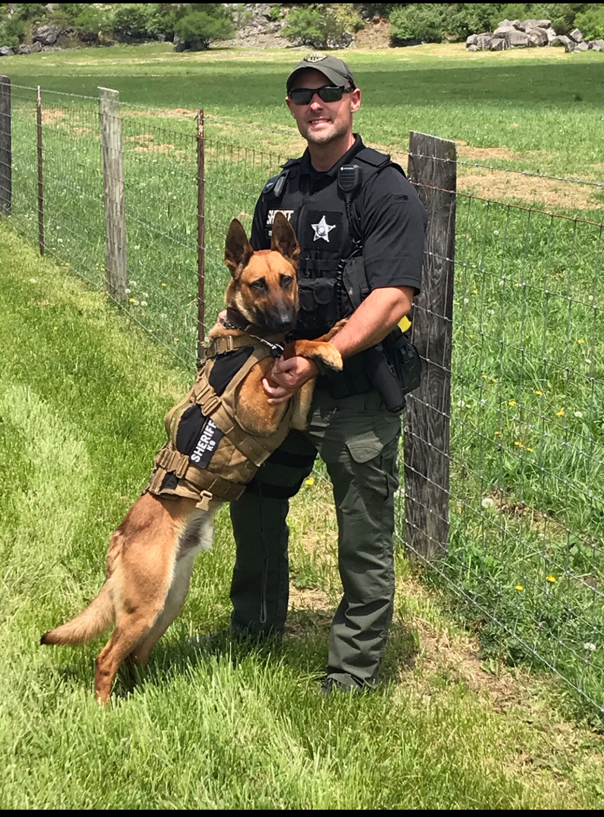 Reynolds and K-9 Rico