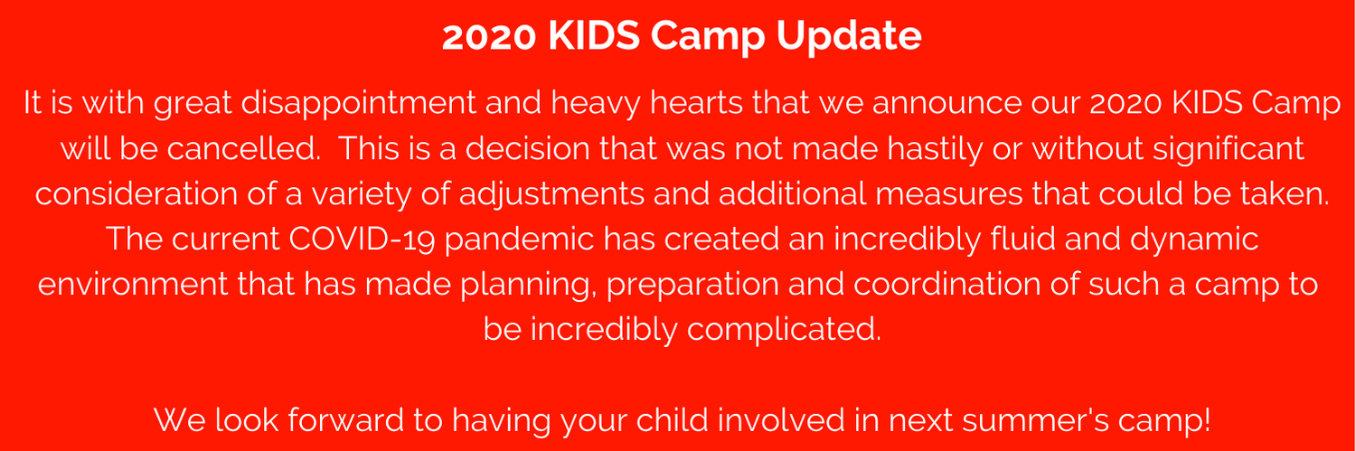 KIDS Camp Cancelled